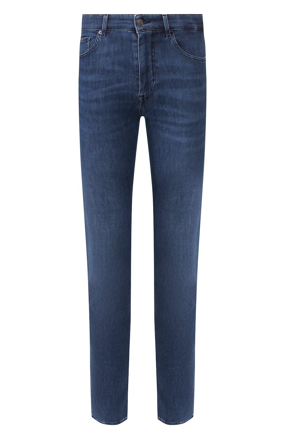 Мужские джинсы BOSS синего цвета, арт. 50426477   Фото 1