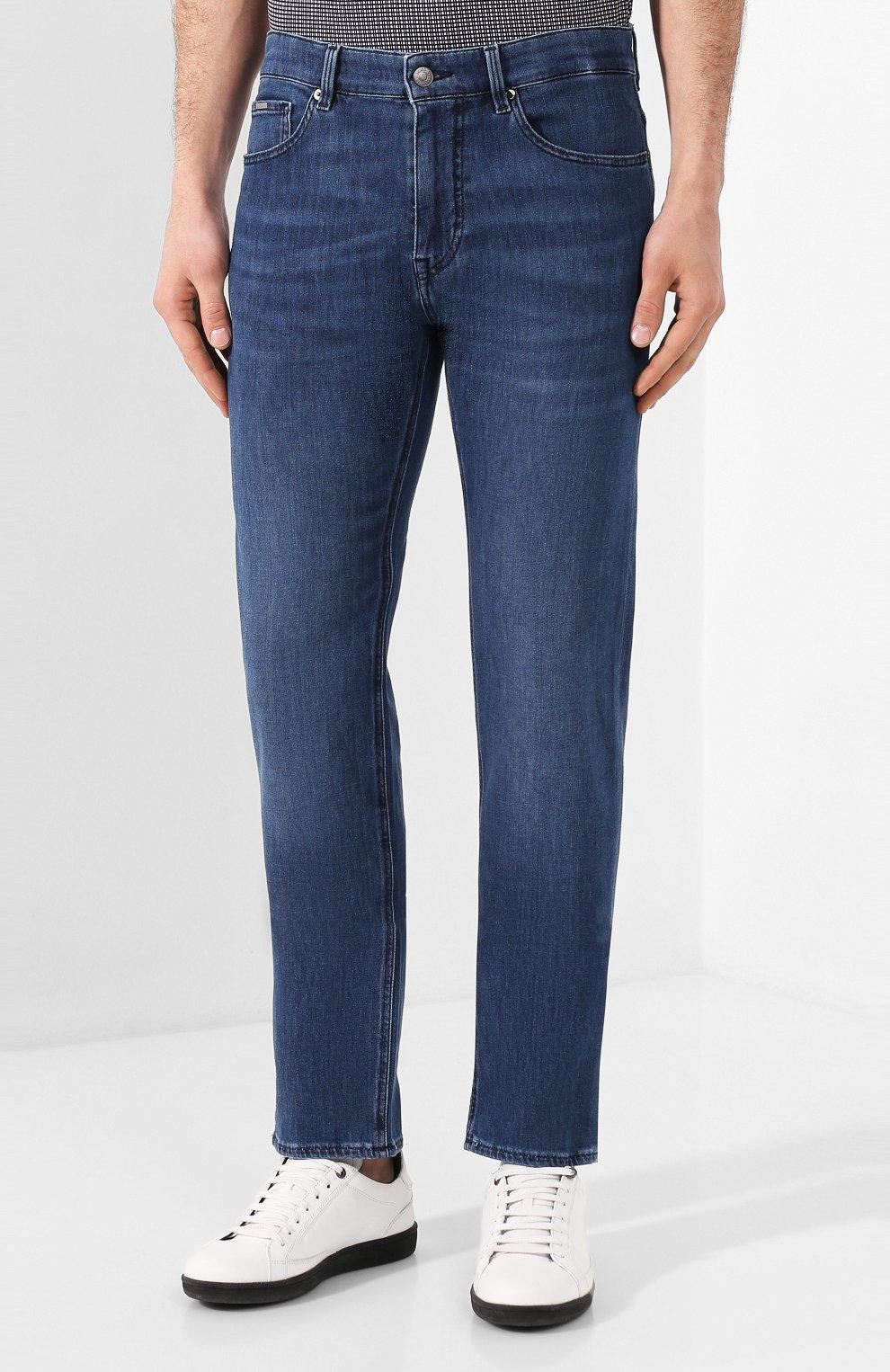 Мужские джинсы BOSS синего цвета, арт. 50426477   Фото 3