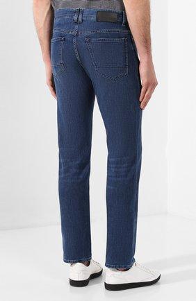 Мужские джинсы BOSS синего цвета, арт. 50426477   Фото 4