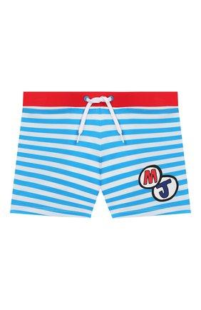 Детские плавки-шорты MARC JACOBS (THE) голубого цвета, арт. W20057 | Фото 1 (Материал внешний: Синтетический материал; Кросс-КТ: Пляж; Ростовка одежда: 3 года | 98 см, 4 года | 104 см, 5 лет | 110 см, 6 лет | 116 см)