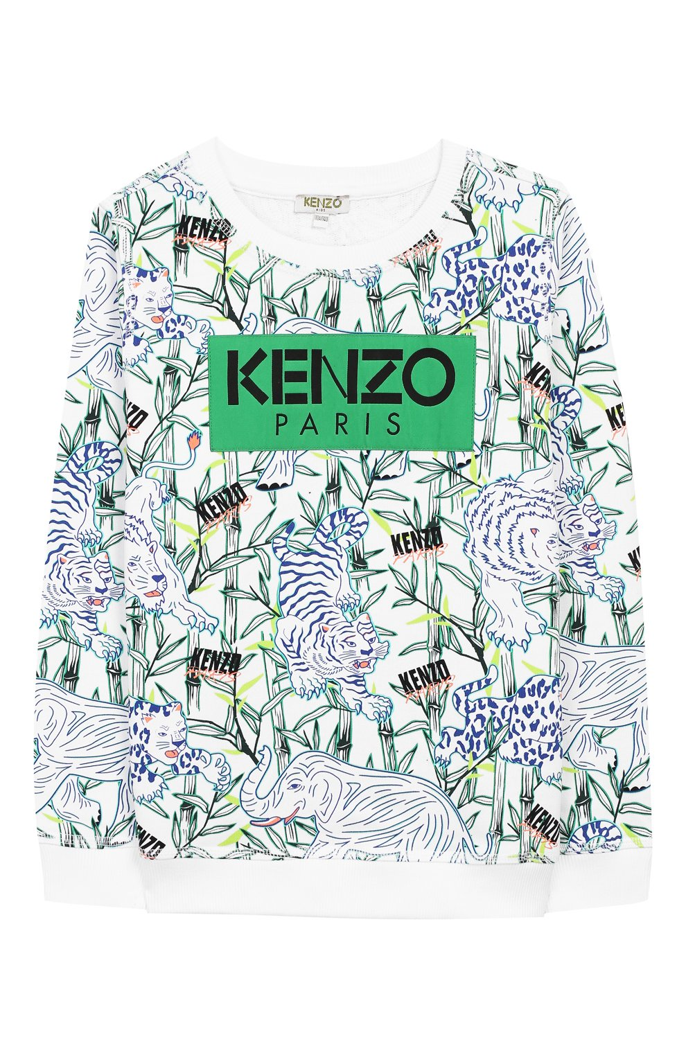 Детский хлопковый свитшот KENZO разноцветного цвета, арт. KQ15598 | Фото 1