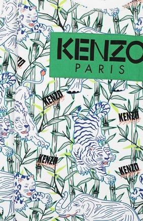 Детский хлопковый свитшот KENZO разноцветного цвета, арт. KQ15598 | Фото 3