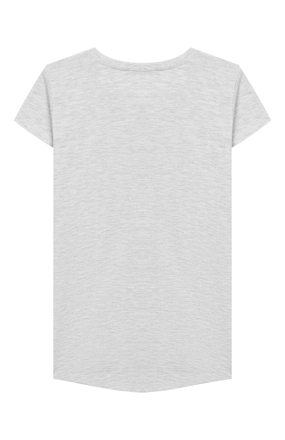 Детская хлопковая футболка KENZO серого цвета, арт. KQ10208 | Фото 2