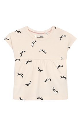 Детский хлопковая футболка SANETTA белого цвета, арт. 10004 18010 | Фото 1