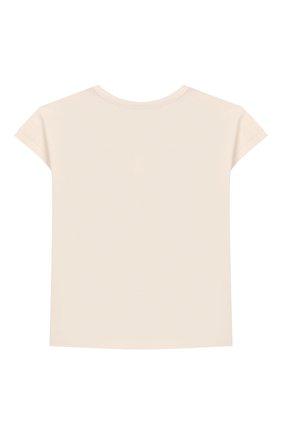 Детский хлопковая футболка SANETTA белого цвета, арт. 10004 18010 | Фото 2