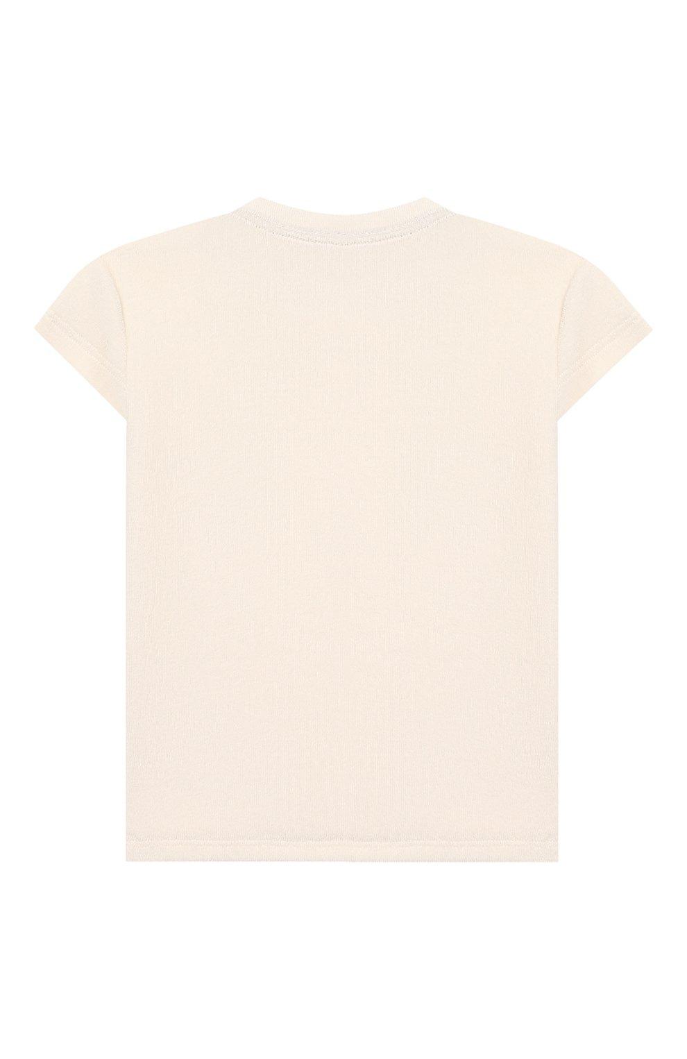 Детский хлопковая футболка SANETTA белого цвета, арт. 10074 18010 | Фото 2