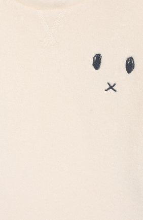 Детский хлопковая футболка SANETTA белого цвета, арт. 10074 18010 | Фото 3