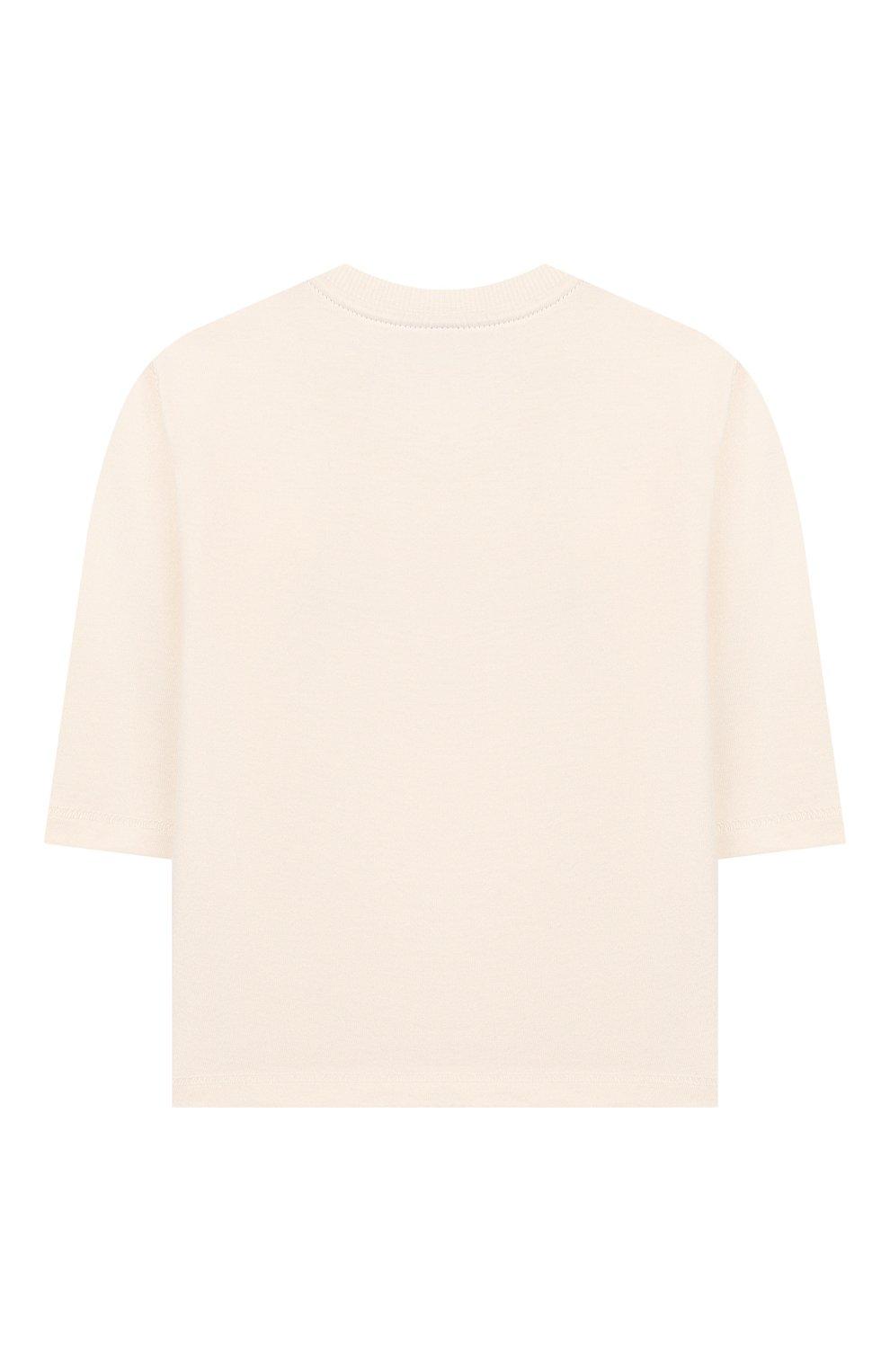 Детский хлопковый лонгслив SANETTA белого цвета, арт. 10008 18010 | Фото 2