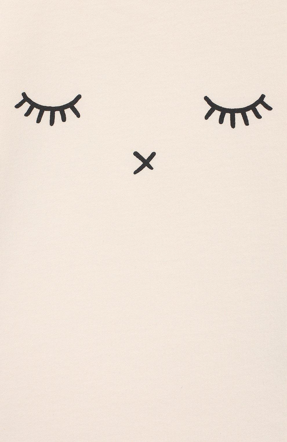 Детский хлопковый лонгслив SANETTA белого цвета, арт. 10008 18010 | Фото 3