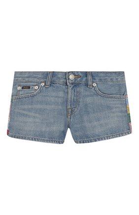Детские джинсовые шорты POLO RALPH LAUREN голубого цвета, арт. 313783742 | Фото 1