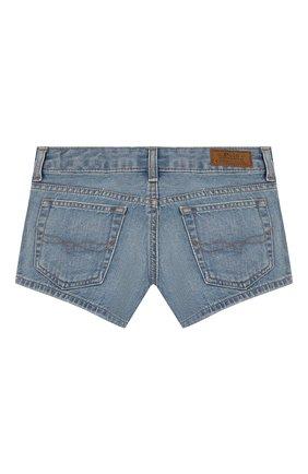 Детские джинсовые шорты POLO RALPH LAUREN голубого цвета, арт. 313783742 | Фото 2
