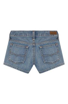 Детские джинсовые шорты POLO RALPH LAUREN голубого цвета, арт. 312783742 | Фото 2