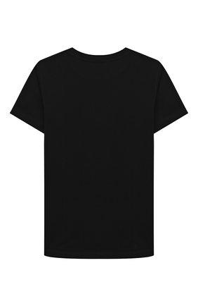 Детская хлопковая футболка BALMAIN черного цвета, арт. 6M8741/MX030/12-16   Фото 2