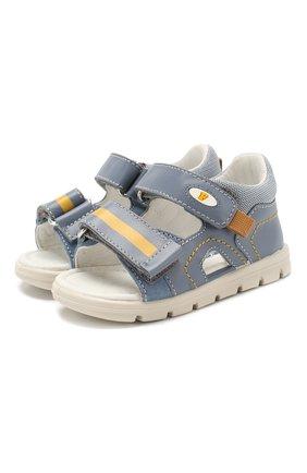 Детские кожаные сандалии FALCOTTO голубого цвета, арт. 0011500832/01 | Фото 1