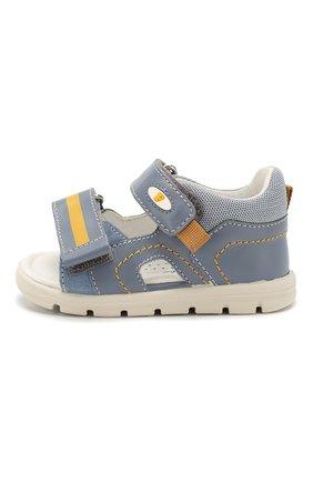 Детские кожаные сандалии FALCOTTO голубого цвета, арт. 0011500832/01 | Фото 2