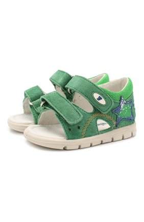 Детские кожаные сандалии FALCOTTO зеленого цвета, арт. 0011500837/42 | Фото 1