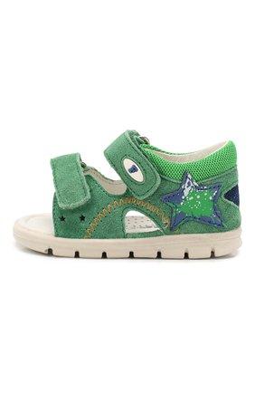 Детские кожаные сандалии FALCOTTO зеленого цвета, арт. 0011500837/42 | Фото 2