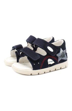 Детские кожаные сандалии FALCOTTO синего цвета, арт. 0011500837/42 | Фото 1