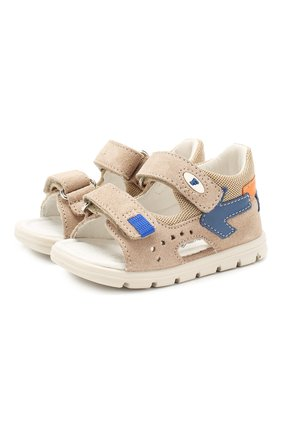 Детские кожаные сандалии FALCOTTO бежевого цвета, арт. 0011500838/01   Фото 1