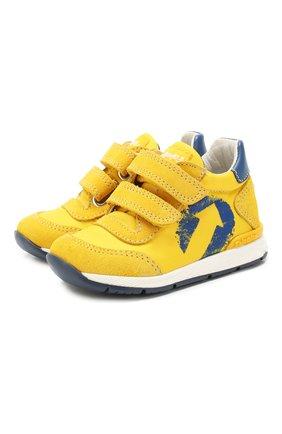 Детские замшевые кроссовки FALCOTTO желтого цвета, арт. 0012014941/01 | Фото 1