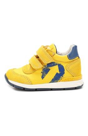 Детские замшевые кроссовки FALCOTTO желтого цвета, арт. 0012014941/01 | Фото 2