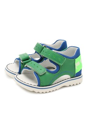 Детские сандалии из текстиля и кожи WALKEY зеленого цвета, арт. Y1B2-40669-0030 | Фото 1