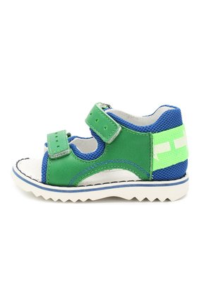 Детские сандалии из текстиля и кожи WALKEY зеленого цвета, арт. Y1B2-40669-0030 | Фото 2