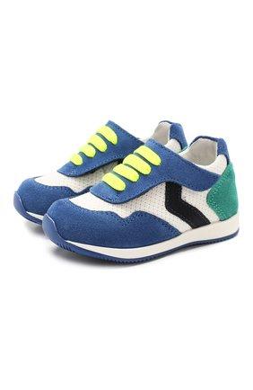 Детские кожаные кроссовки WALKEY зеленого цвета, арт. Y1B4-40230-0065 | Фото 1