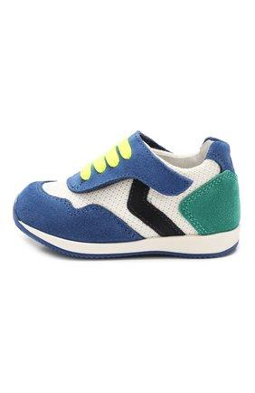 Детские кожаные кроссовки WALKEY зеленого цвета, арт. Y1B4-40230-0065 | Фото 2