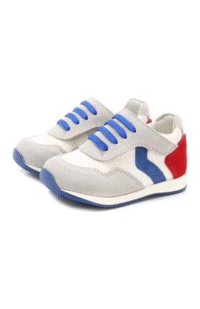 Детские кожаные кроссовки WALKEY серого цвета, арт. Y1B4-40230-0065 | Фото 1