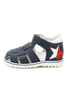 Детские кожаные сандалии WALKEY синего цвета, арт. Y1B4-40664-0092 | Фото 2