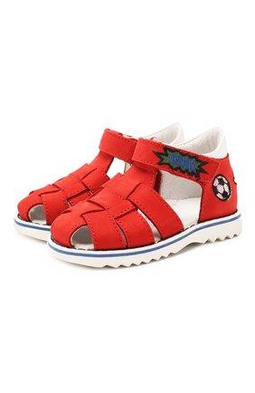 Детские кожаные сандалии WALKEY красного цвета, арт. Y1B4-40666-0121 | Фото 1