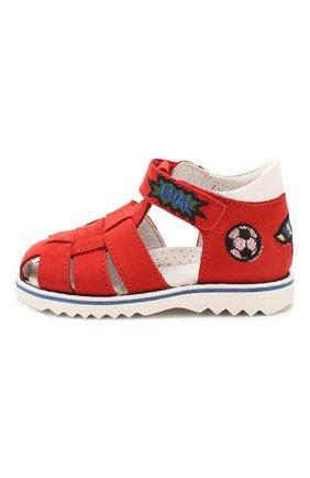 Детские кожаные сандалии WALKEY красного цвета, арт. Y1B4-40666-0121 | Фото 2