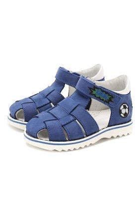Детские кожаные сандалии WALKEY синего цвета, арт. Y1B4-40666-0121 | Фото 1