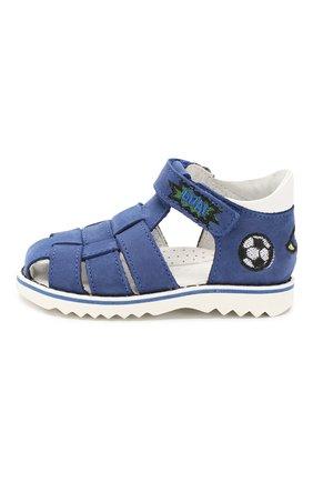 Детские кожаные сандалии WALKEY синего цвета, арт. Y1B4-40666-0121 | Фото 2