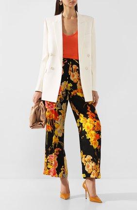 Женская кожаные туфли love 100 JIMMY CHOO желтого цвета, арт. L0VE 100/CCL | Фото 2