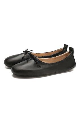 Женские кожаные балетки TOD'S черного цвета, арт. XXW12C0CJ60S0M   Фото 1