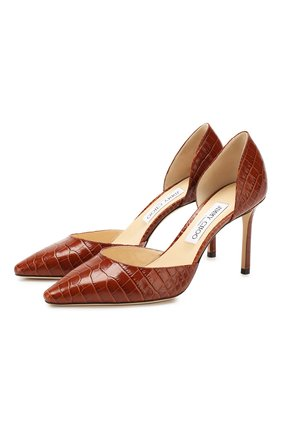 Женская кожаные туфли esther 85 JIMMY CHOO коричневого цвета, арт. ESTHER 85/CCL | Фото 1