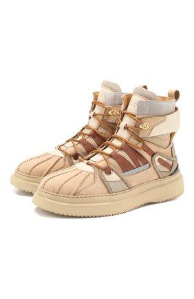 Мужские кожаные ботинки BUSCEMI бежевого цвета, арт. 420SM021TL07KA/M | Фото 1
