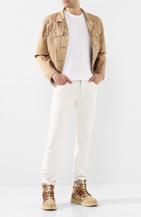 Мужские кожаные ботинки BUSCEMI бежевого цвета, арт. 420SM021TL07KA/M | Фото 2