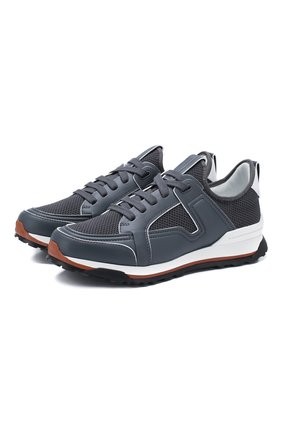 Мужские комбинированные кроссовки ERMENEGILDO ZEGNA серого цвета, арт. A4402X-LHNAF | Фото 1