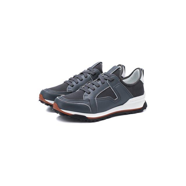 Комбинированные кроссовки Ermenegildo Zegna — Комбинированные кроссовки