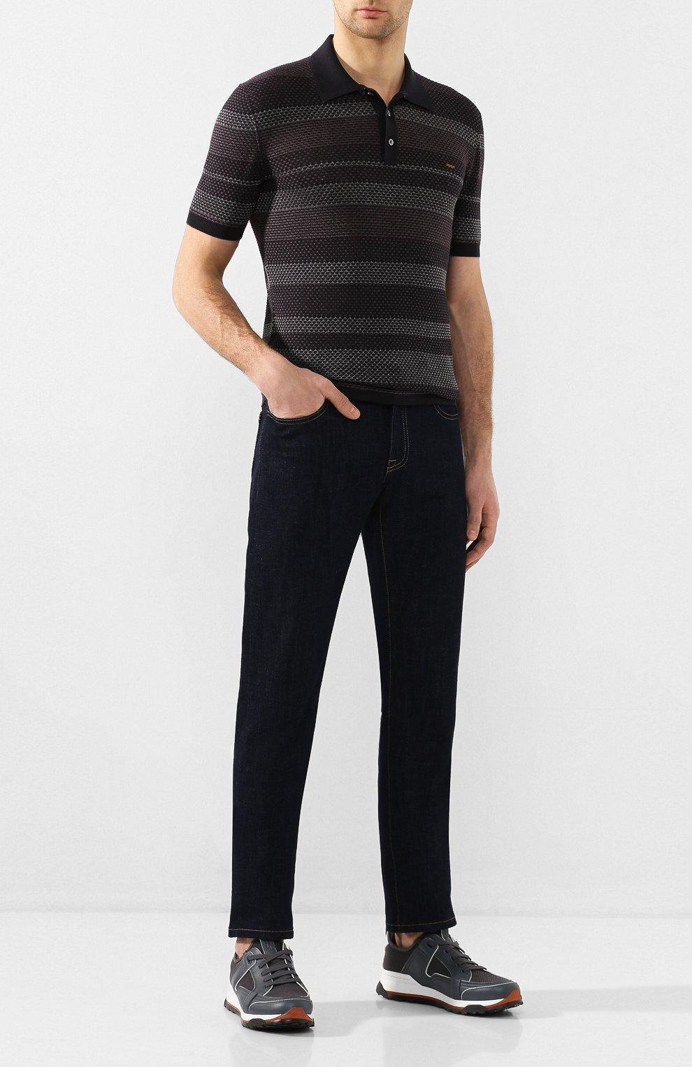 Мужские комбинированные кроссовки ERMENEGILDO ZEGNA серого цвета, арт. A4402X-LHNAF | Фото 2