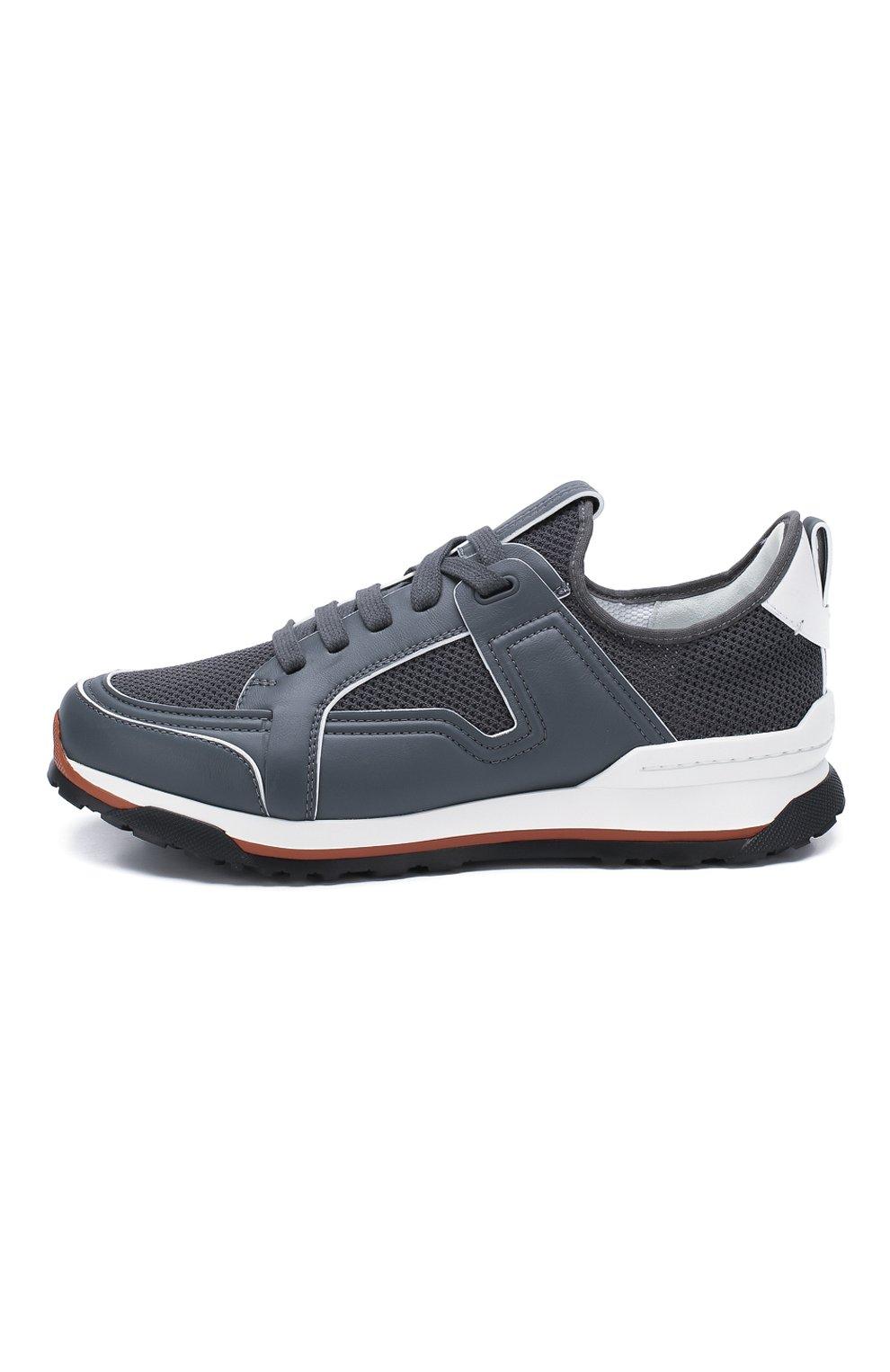Мужские комбинированные кроссовки ERMENEGILDO ZEGNA серого цвета, арт. A4402X-LHNAF | Фото 3
