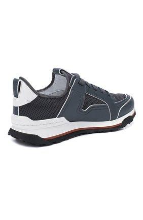 Мужские комбинированные кроссовки ERMENEGILDO ZEGNA серого цвета, арт. A4402X-LHNAF | Фото 4