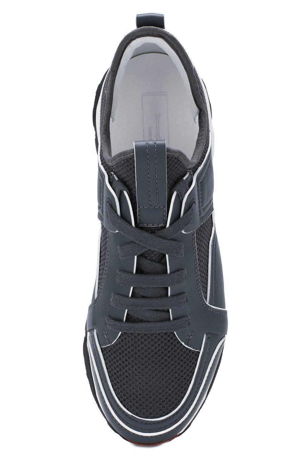 Мужские комбинированные кроссовки ERMENEGILDO ZEGNA серого цвета, арт. A4402X-LHNAF | Фото 5
