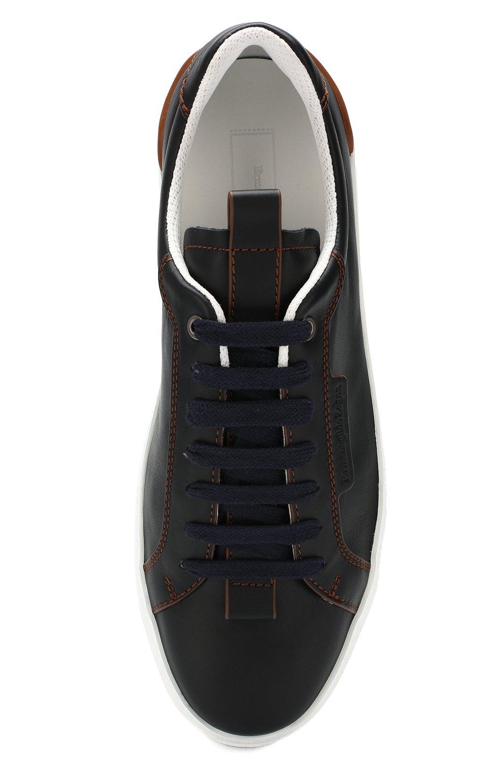 Мужские кожаные кеды ERMENEGILDO ZEGNA темно-синего цвета, арт. A4473X-LHNAT | Фото 5