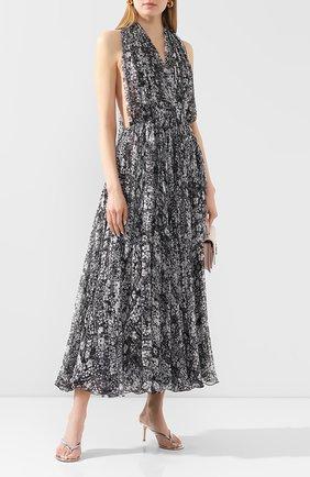 Женские кожаные мюли calypso GIANVITO ROSSI серебряного цвета, арт. G11260.70RIC.METARGE | Фото 2