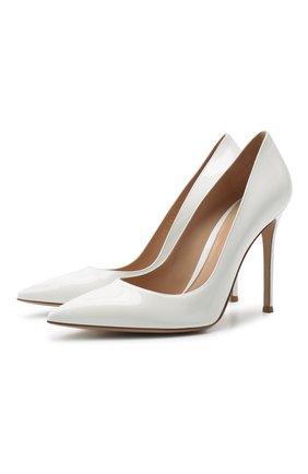 Женская кожаные туфли gianvito 105 GIANVITO ROSSI белого цвета, арт. G28470.15RIC.VERBIAN | Фото 1