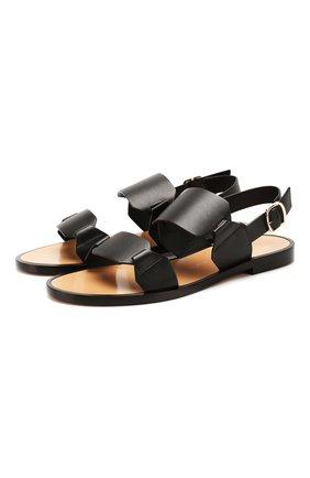 Женские кожаные сандалии SANTONI черного цвета, арт. WHLK58718HI1TLGAN01 | Фото 1
